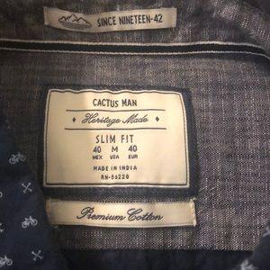 Cactus Man Shirts - EUC Cactus Man Heritage Made Slim Fit Button down